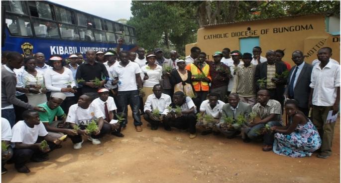 Tree Planting Exercise at Kibabii Primary School