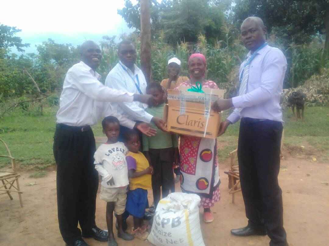 Donates Food Stuffs and Bedding's to the Family of John Wafula