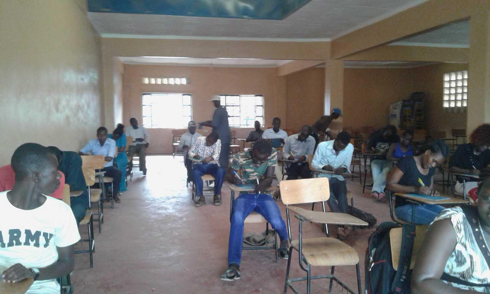 Turkana Learning Center Taking 2nd Semester 2016/2017 Exams