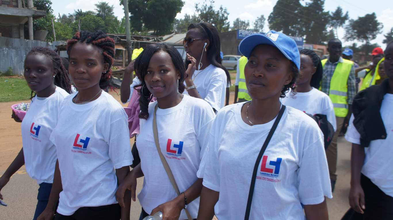 Healthy Lives Walk Organized by Lumboka Hospital