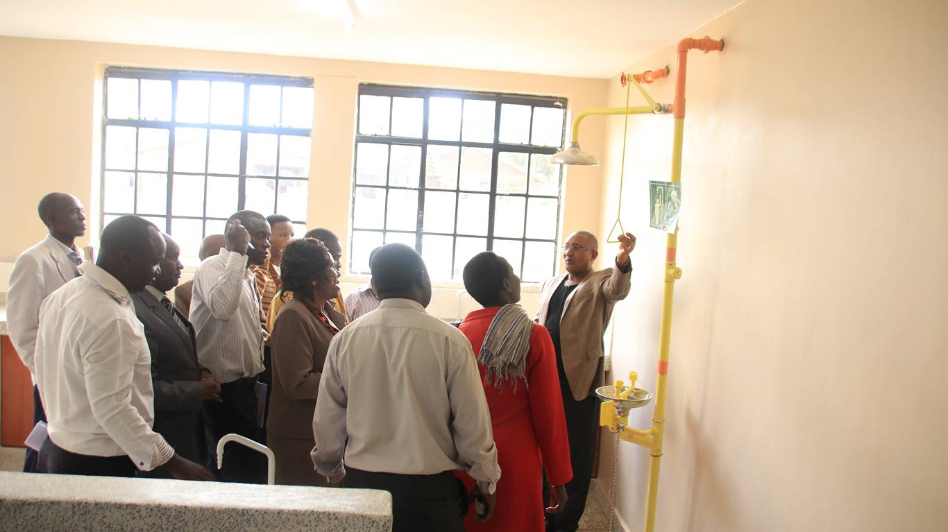 Site inspection for proposed phase II Educational Block