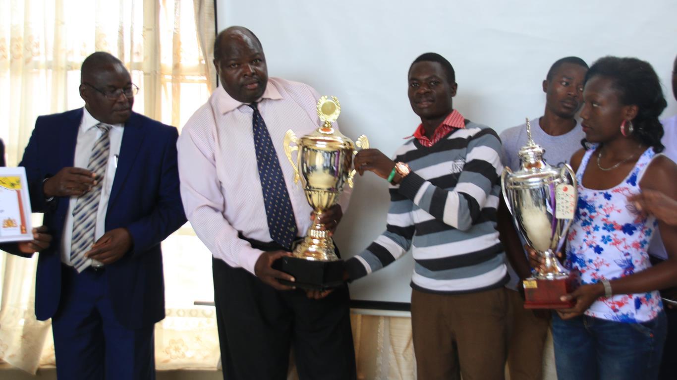 The Presentation of 91st Kenya Music Festival Award Winning Trophies and Certificate by Kibabii University Choir to the University Senate