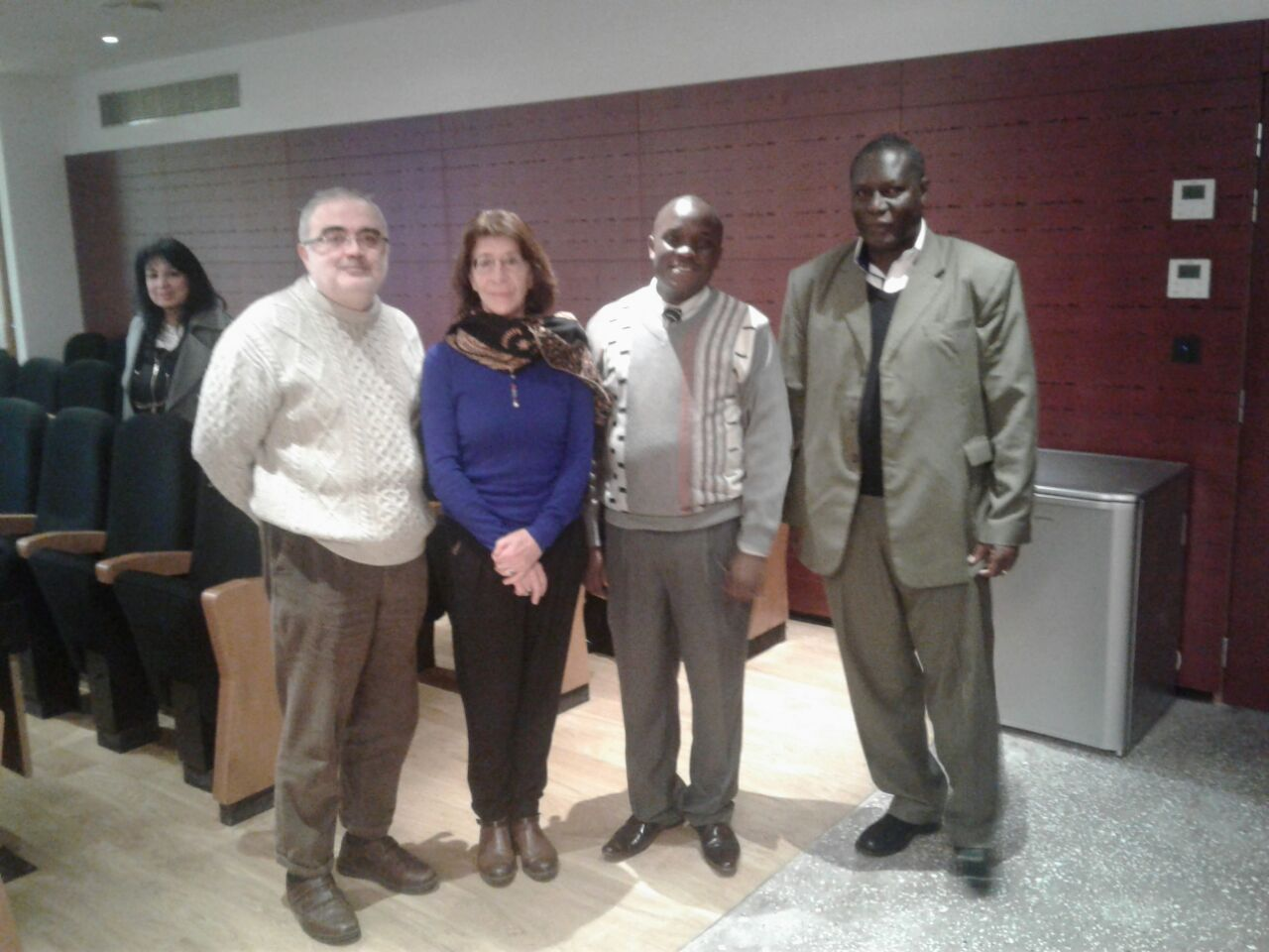 Prof. Franklin Wabwoba with PhD Student in France
