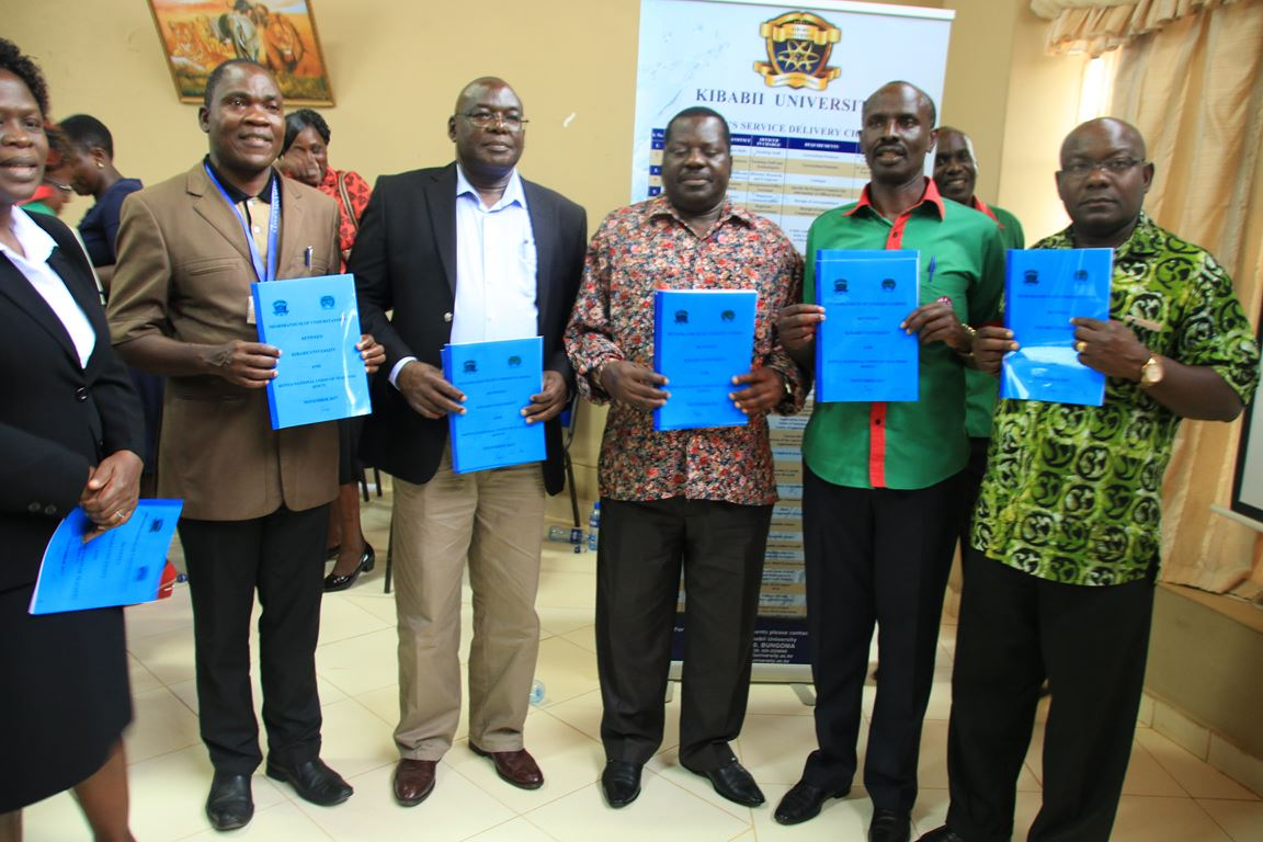 Signing of MoU between Kibabii University and Kenya National Union of Teachers(KNUT) Gallery