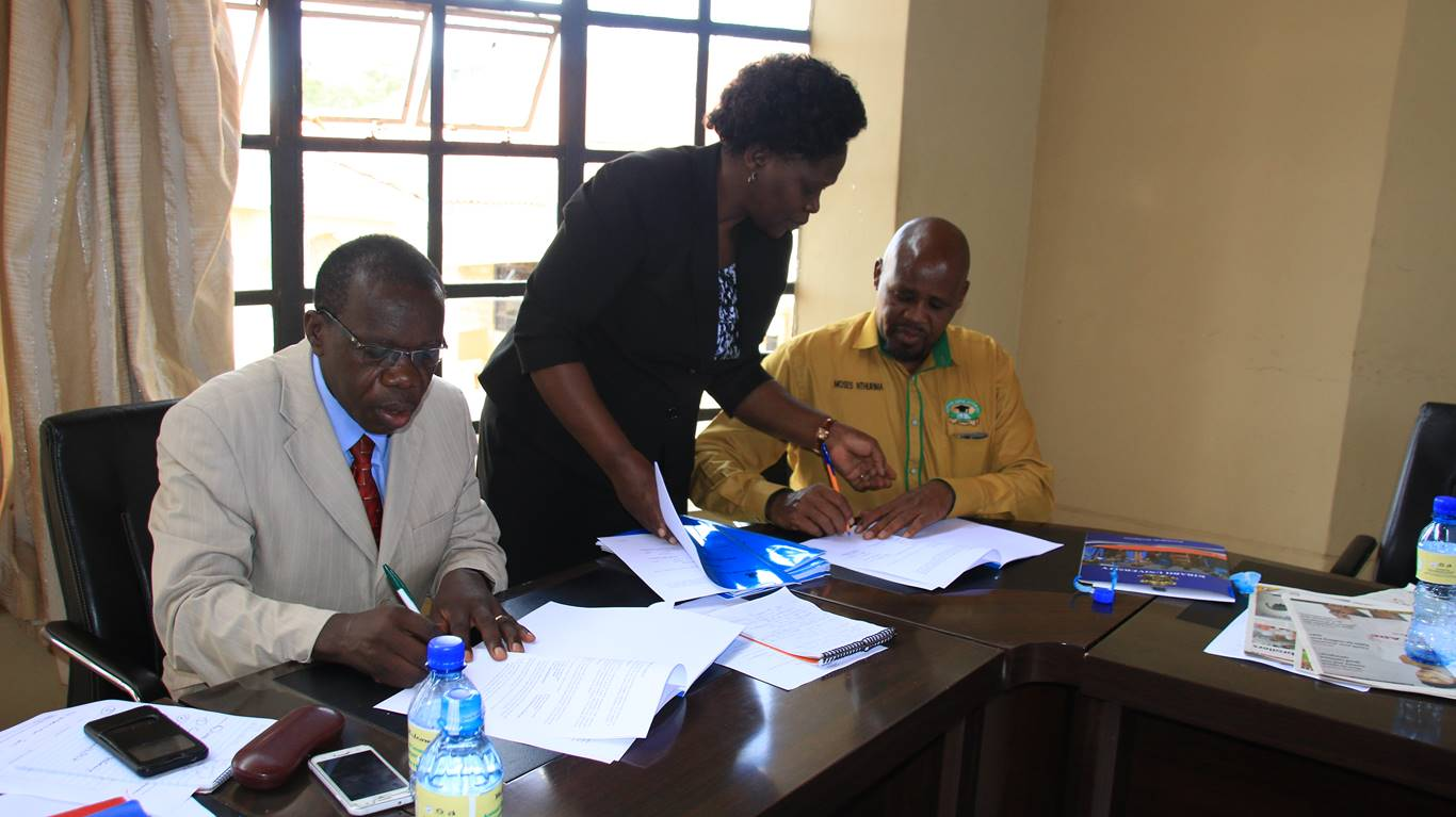 Signing of MoU between Kibabii University and Kenya Union of Post- Primary Education Teachers (KUPPET)