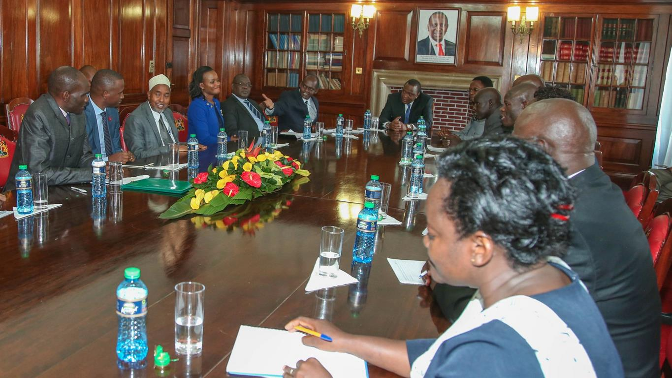 Kibabii University Visit H.E. Hon. Uhuru Kenyatta at the State House