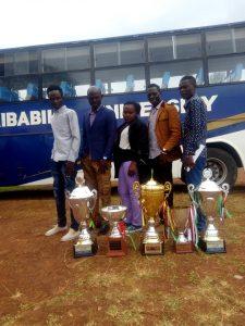 Kibabii University Choir Celebrate Victory on Arrival Back Home1