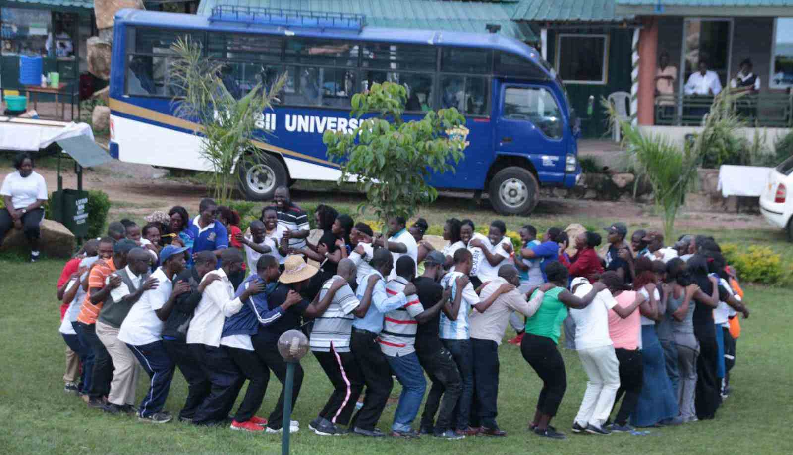 Kibabii University Staff in Team Building Exercise Gallery