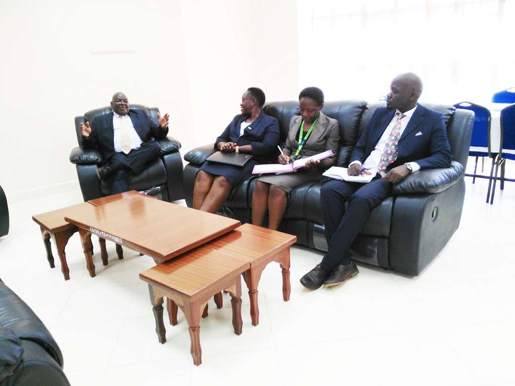 KCB Manager Bungoma Branch Courtesy Call on VC