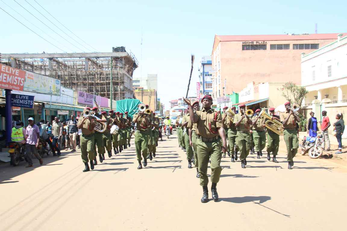 Kibabii University in the Sensitization Procession of the Bungoma A.S.K Satellite Show
