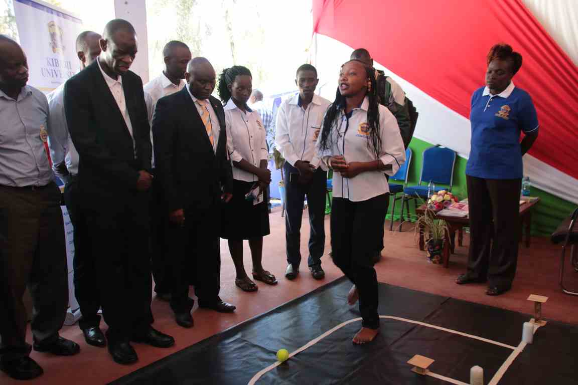 Showcasing Robot at the Bungoma A.S.K Satellite Show 2018