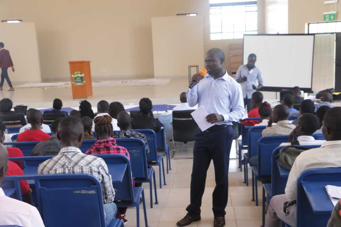 2018/2019 First Year Students' Orientation to the Directorate of Aids Control Unit