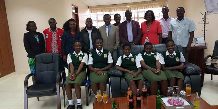 Eluuya Girls High School Paid a Courtesy Call to the University