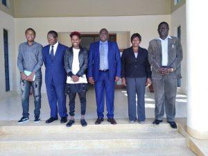 Eric Omondi Pays Courtesy Call to the Vice Chancellor1