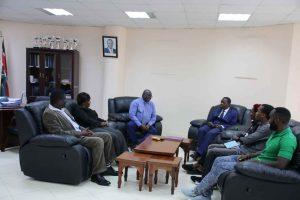 Eric Omondi Pays Courtesy Call to the Vice Chancellor13
