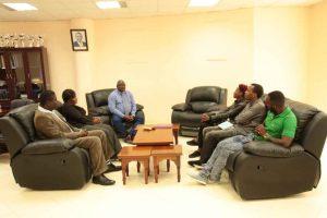 Eric Omondi Pays Courtesy Call to the Vice Chancellor2 1