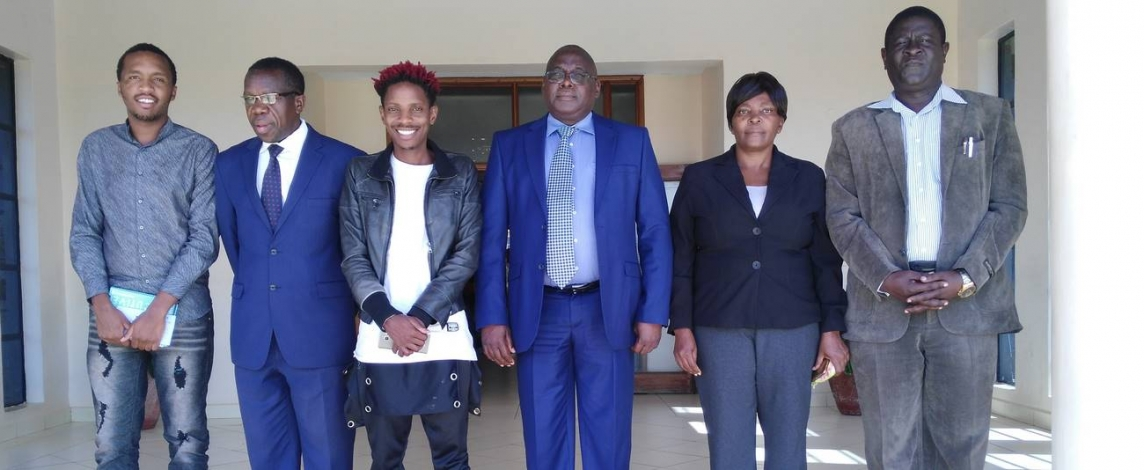 Eric Omondi Pays Courtesy Call to the Vice Chancellor2