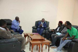 Eric Omondi Pays Courtesy Call to the Vice Chancellor21