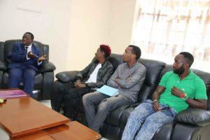 Eric Omondi Pays Courtesy Call to the Vice Chancellor7