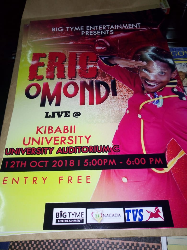Eric Omondi in Kibabii University
