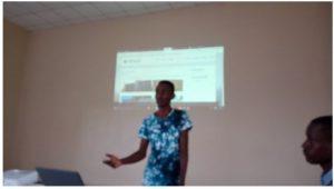 KIBU Student Showcasing Innovation