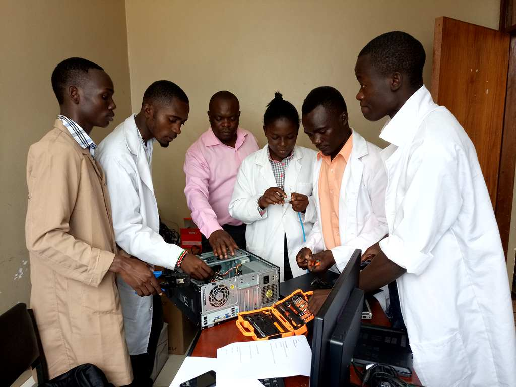 Students on Attachment in ICT Maintenance Practical