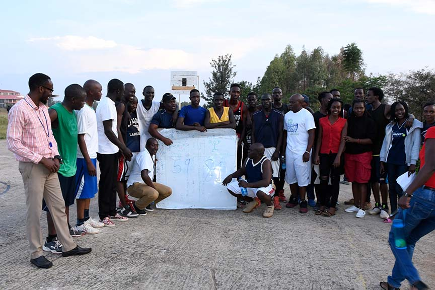 KIBU Staff vs. Students Basketball Game