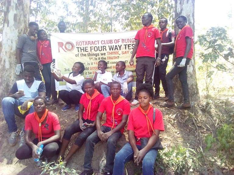 Members of Kibabii University Scouts Club Cleaning River Khalaba