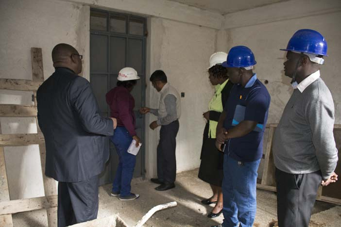 Site Inspection for Proposed Women Hostels