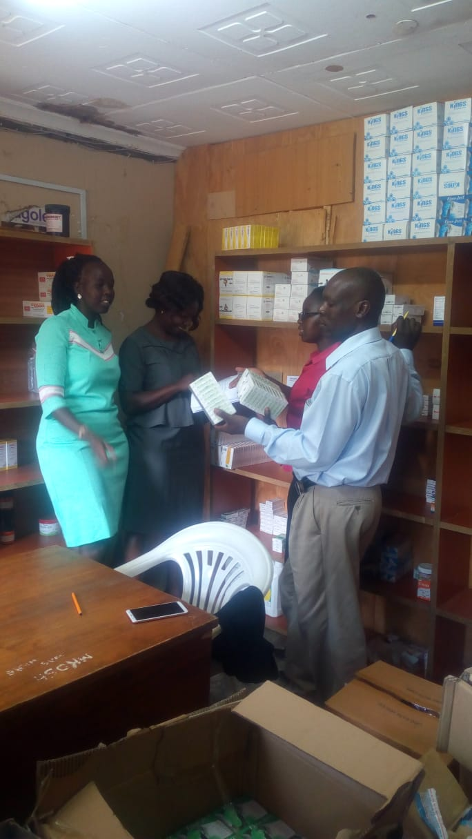 Stock Taking Exercise at the University Pharmacy for the Closure of Final Accounts for 2018/2019