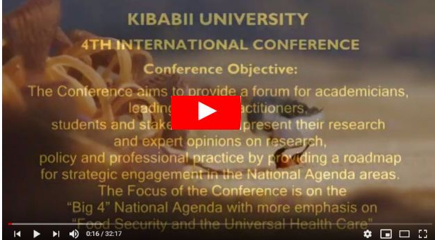 Video: KIBU 4th International Conference