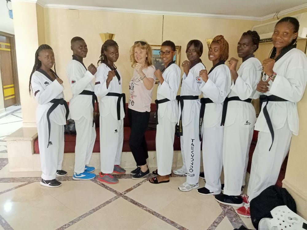 Kibabii University Taekwondo Ladies Team in a Training Camp in Egypt