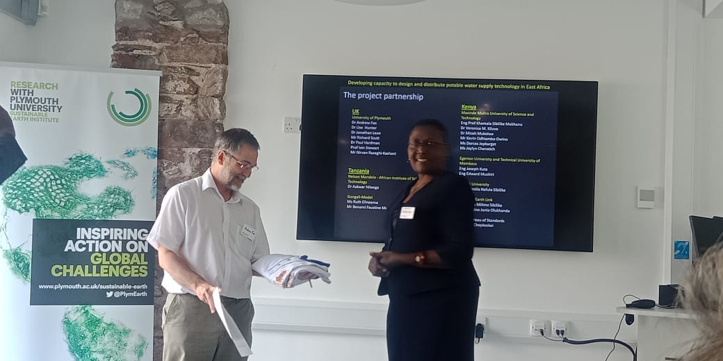 Demtila Wanjala at the University of Plymouth