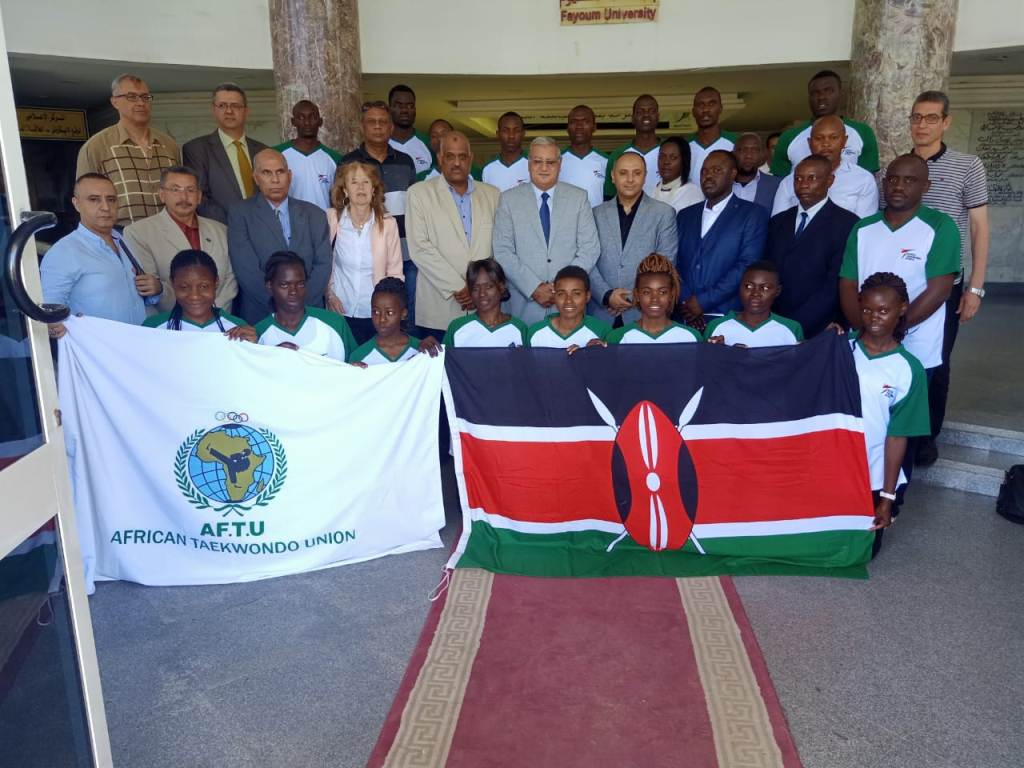 Kibabii University Taekwondo Athletes at Fayoum University