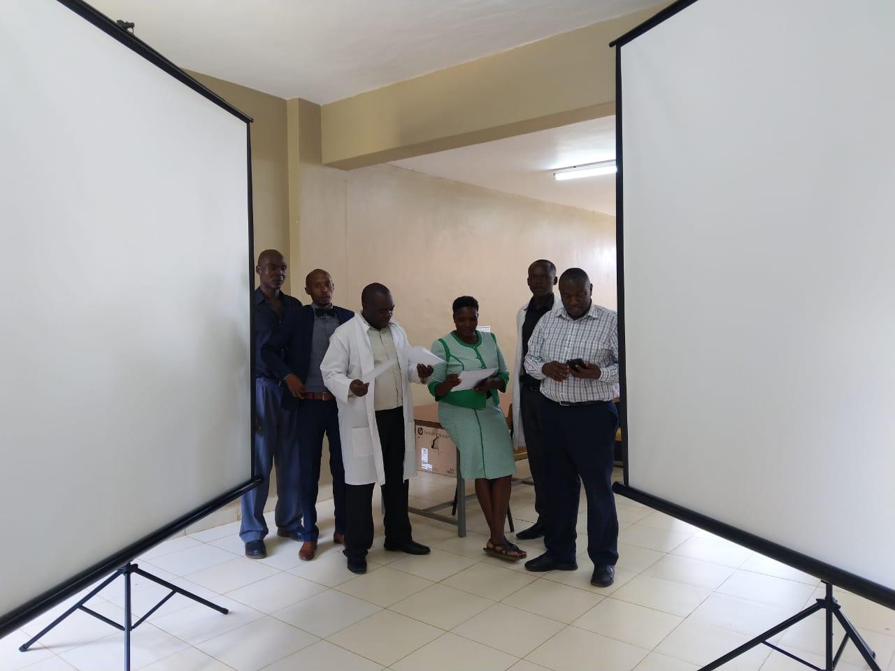 School of Graduate Studies Procures 2 Projectors Tripod Screens