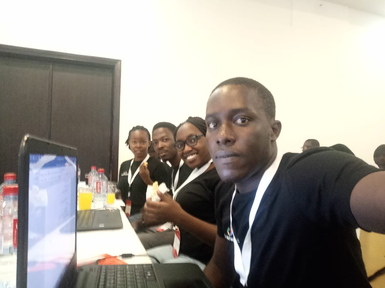 Samuel Ouma at Google Developer Student Clubs Lead Summit