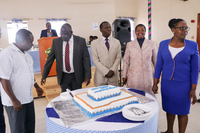 A Mbuzi Luncheon for Choir Members and Games Team with the VC Album5