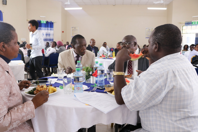 A Mbuzi Luncheon for Choir Members and Games Team with the VC Album7