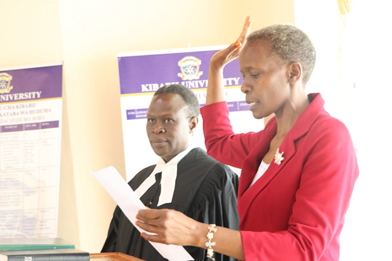 KIBU Staff take Oath of Secrecy Gallery