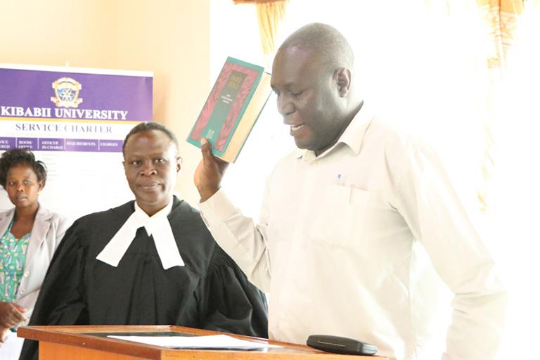 KIBU Staff take Oath of Secrecy Album9