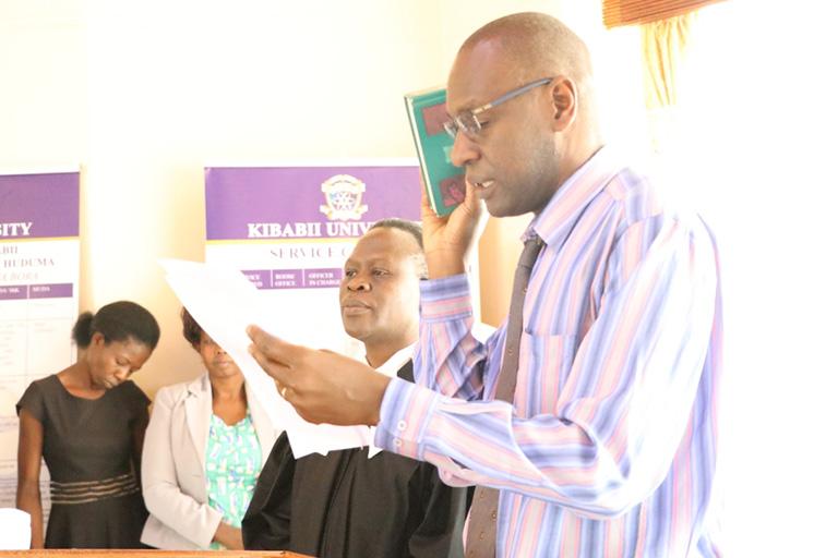 KIBU Staff take Oath of Secrecy Album10