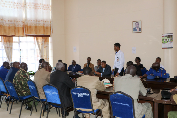 Consultative Security Meeting between Kibabii University and Bungoma County Security Agencies