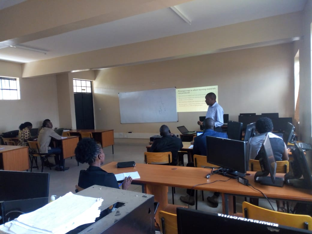 Training on Digital Content Design for E-learning Platform