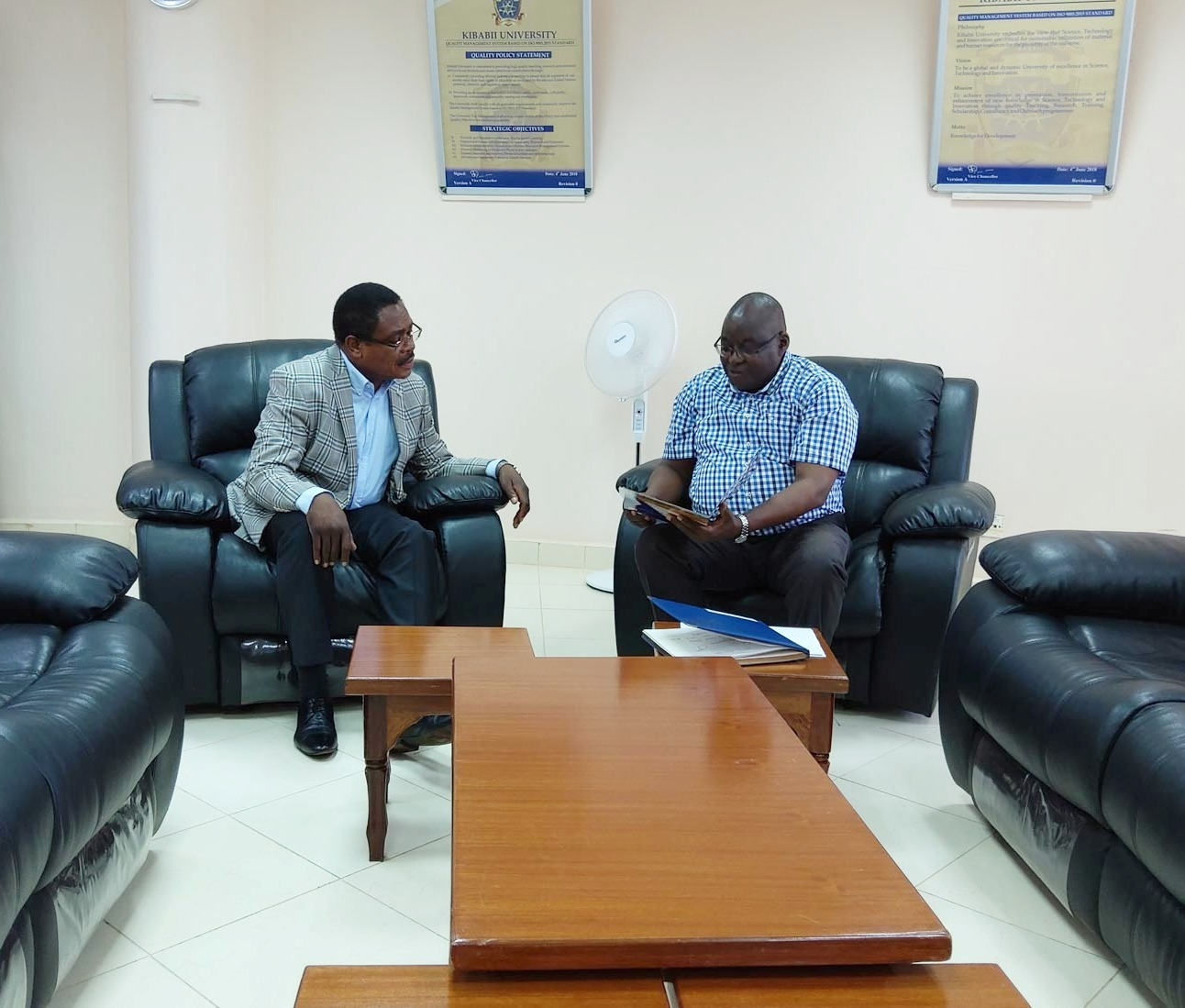Amb. Simon Nabukwesi Pays Courtesy Call on the Vice Chancellor
