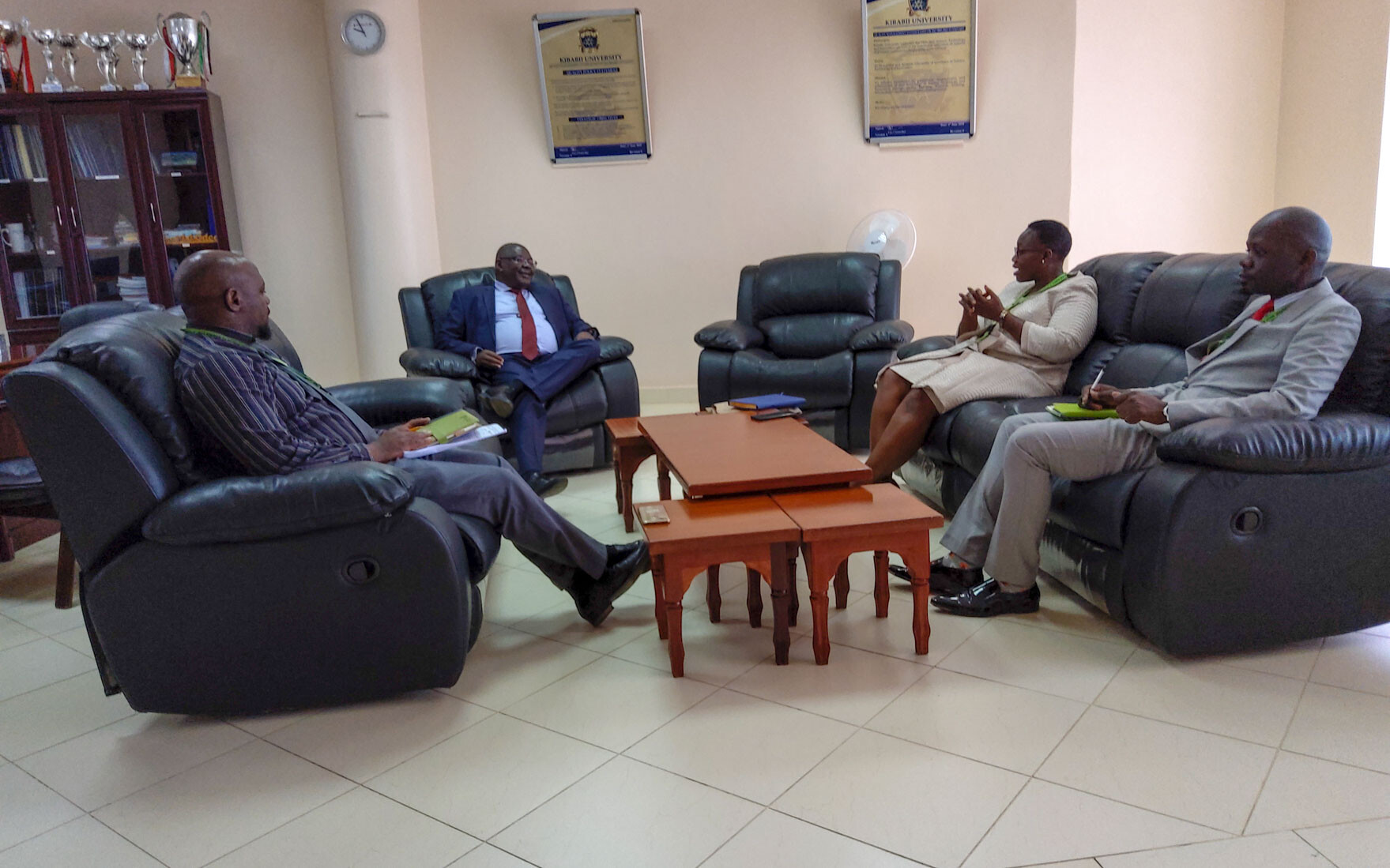 Branch Manager KCB Bungoma Pays Courtesy Call on the Vice Chancellor