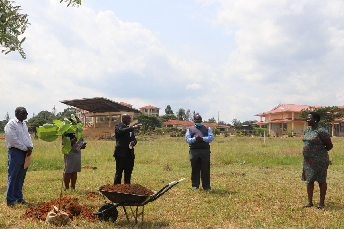 Ms. Sophy Nekoye Waliaula Donate Indigenous Trees to Kibabii University