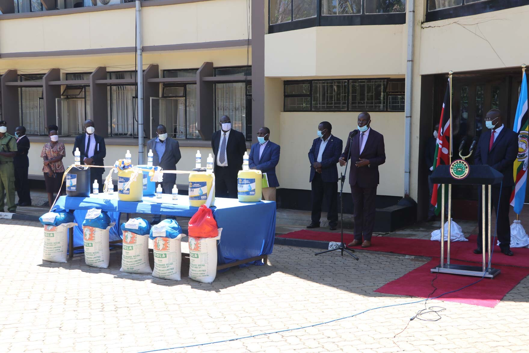 Donation of Soap and Sanitizers to Bungoma County Government Album1