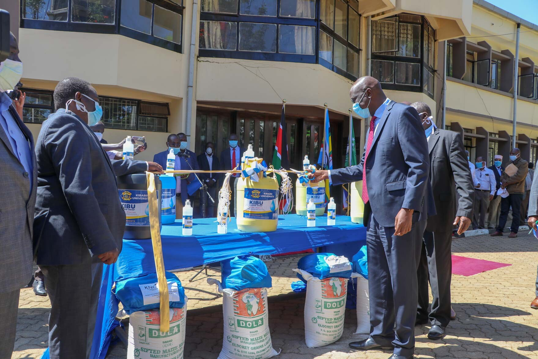 Donation of Soap and Sanitizers to Bungoma County Government Gallery