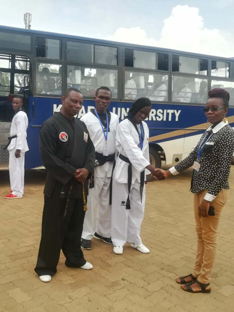 Head of Transport Section with Taekwondo Team Gallery