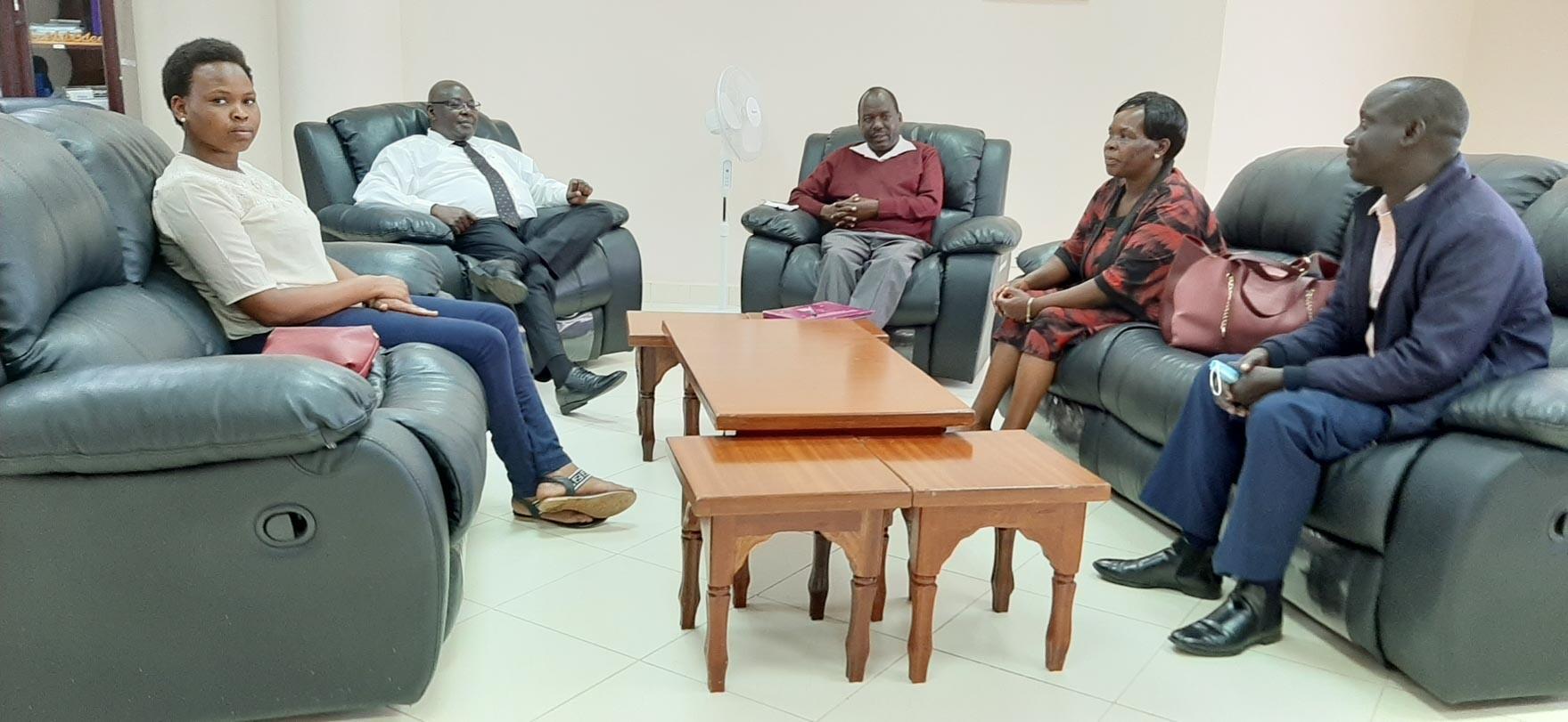 Rev. Benard Kosgei Pays Courtesy Call on the Vice Chancellor